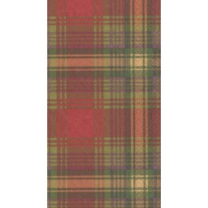Entertaining with Caspariカクテルナプキン、Highland Evergreen Guest Towels グリーン 12110G