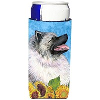 Caroline 's Treasures ss4122-parent Keeshond in Summer Flowers Ultra Beverage Insulators forスリム缶ss41...