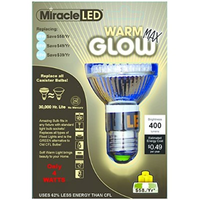 MiracleLED 604835 4ワットソフトデイライトGrow LED電球、3 - Pack