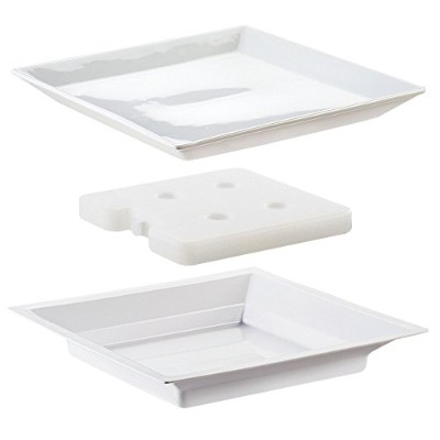 Cal-Mil 3063 Cold Concept Plate Set, 2.5cm Height, 28cm Width, 28cm Length