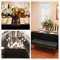 Popular Black Sequin tablecloth On sale! Sequin Shimmer Tablecloth 50x80 by B-COOL