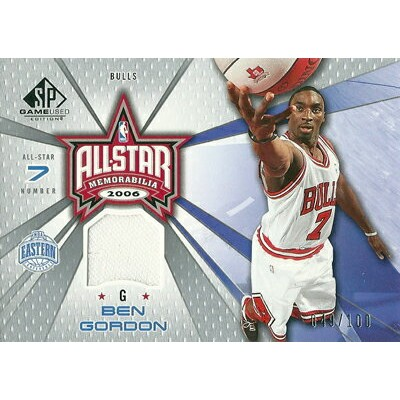 ベン ゴードン NBAカード 2006/07 SP Game Used All-Star Memorabilia 100枚限定!(049/100) / Ben Gordon