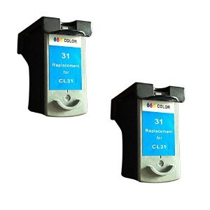 BavvoR Remanufactured ink Cartridge for Canon CL-31(Color) use in Canon MP470 Printer - パック of 2 ...