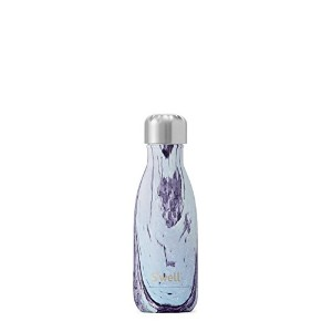 S Well Bottle Purple and White Lily Wood 9oz Bottle by S WELL BOTTLE