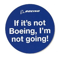 (ボーイング) BOEING If It's Not Boeing,I'm Not Going ステッカー