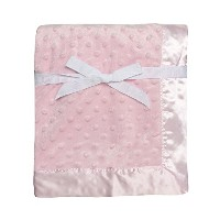 Baby Starters Textured Dot Blanket with Satin Trim, Pink 30 x 40 by Baby Starters [並行輸入品]