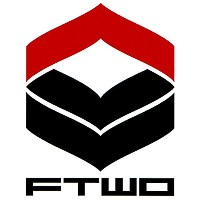 16-17 FTWO CUT-IN STICKER LOGO 大 01-RED×BLACK カットイン ステッカー ロゴ