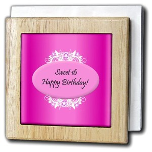 Edmond Hogge Jr誕生日 – ピンクSweet 16 Birthday – タイルナプキンホルダー 6 inch tile napkin holder nh_38834_1