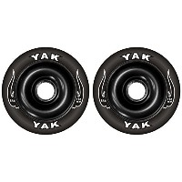 YAK SCAT High Performance Scooter Wheel キックボード用ウィール 110mm x 88a 前後Set (Black)
