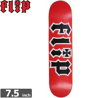 FLIP フリップ FLIP スケボー デッキ TEAM HKD RED DECK7.5 x 31.25 NO73