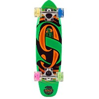"SECTOR9(セクターナイン) ミニクル-ザ-グローウイールシリ-ズ GLOW WHEEL SERIES THE STEADY COMPLETE 25""L 6.75""W GREEN"