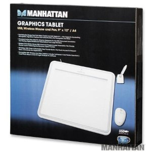 "9""x12""-インチ USB グラフィック Tablet with Wireless マウス and ペン for ホーム and Office, Manhattan 176040 (海外取寄せ品)"