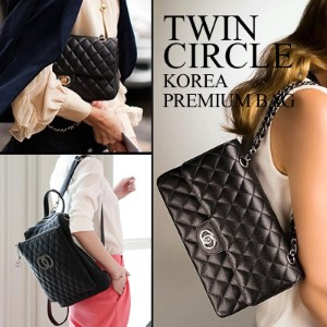 Twin Clrcle Bag/Korea bag/レディスバッグ/ 結婚式 OL用 / ポーチ/バッグ/High Quality/HOLLYWOOD STYLEブ