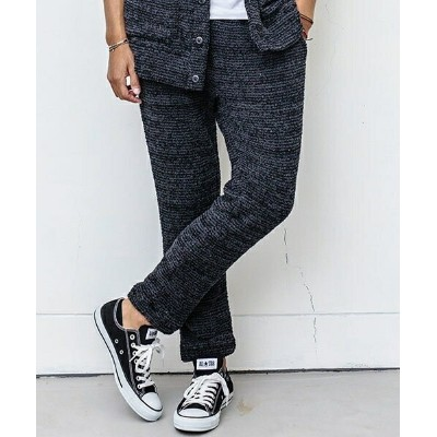 【ANGENEHM(アンゲネーム)】1633-307AN-Cashmere Touch Knit Border Pants パンツ (MADE IN JAPAN)