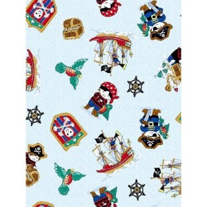 SheetWorld Fitted Pack N Play (Graco Square Playard) Sheet - Pirates - Made In USA by sheetworld