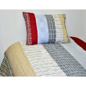 Plaids and Stripes Boys Standard Sham by Bacati