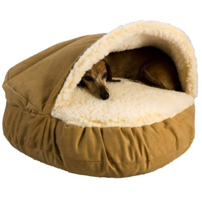 Snoozer Luxury Cozy Cave, Camel, Large by Snoozer