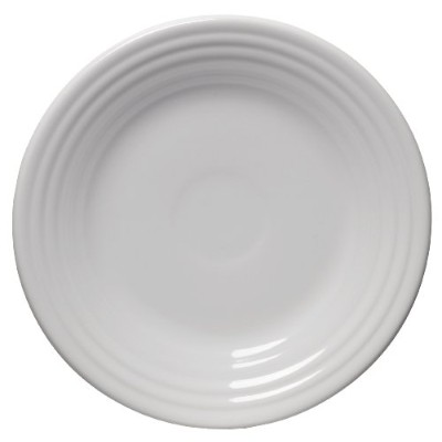 Fiesta 9-Inch Luncheon Plate, White by Homer Laughlin