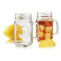 Libbey Country Fair 4-piece Drinking Jar with Handle、16.5-ounce、クリア Set of 4 クリア GY-FRGE-6K1P