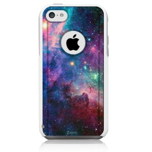 iPhone 5c Case White Galaxy Nebula [Dual Layered Hybrid] Protective Commuter Case for iPhone 5c...