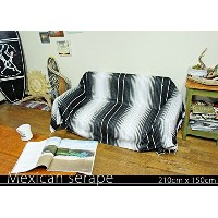 RUG&PIECE Mexican Serape made in mexcico ネイティブ メキシカン サラペ メキシコ製 210cm×150cm (rug-5544)