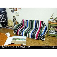 RUG&PIECE Mexican Serape made in mexcico ネイティブ メキシカン サラペ メキシコ製 210cm×150cm (rug-5547)