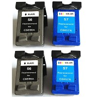 BavvoR Remanufactured Ink Cartridge for HP 56/57(Black/Color) use in HP PSC 1315xi Printer - パック of...