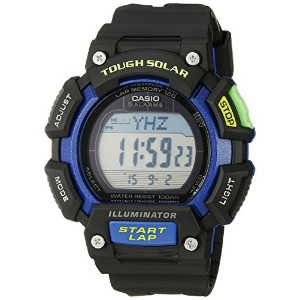 Casio Mens Tough Solar Runner Digital Black and Blue Watch