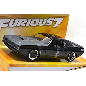 "JADA TOYS 1:24SCALE ""FAST & FURIOUS 7"" ""Letty's PLYMOUTH BARRACUDA"" CUDA (BLACK) ジェイダトイズ 1:24スケール ..."