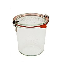 Weck 742 Mold Jar - .5 Liter, Set of 6 by Weck