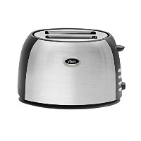 Oster TSSTJC5BBK 2-Slice Toaster, Brushed Stainless Steel [並行輸入品]