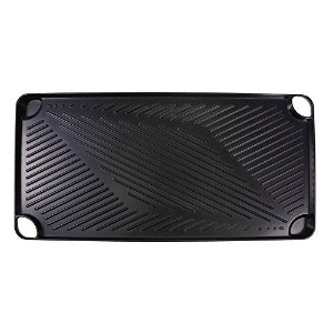 Natico 60-2826 Small Cast Aluminum Grill Pan, Black [並行輸入品]