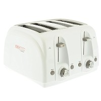 Cookmate by Viasonic 4 Slice Toaster, White [並行輸入品]