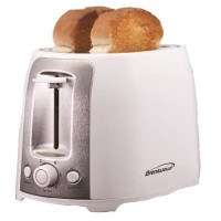 Brentwood Appliances TS-292W 2-Slice Cool Touch/Wide Slot Toaster, White and Stainless Steel [並行輸入品]