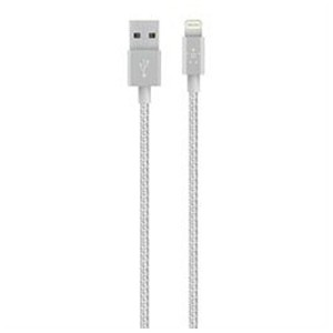 BELKIN iPad / iPad mini / iPhone / iPod対応 Lightning ⇔ USBケーブル 充電・転送 (1.2m・シルバー) MFi認証 F8J144bt04...