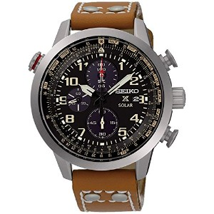 SEIKO セイコー SSC421P1 PROSPEX CHRONOGRAPH BLACK DIAL BROWN LEATHER BAND MEN'S WATCH 男性用 メンズ 腕時計 ...