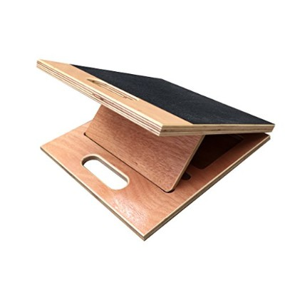 "BodyKore 3-in-1 Wooden Slant Board- Rehab First, Stretch (Large) 14"" Calf Fitter"