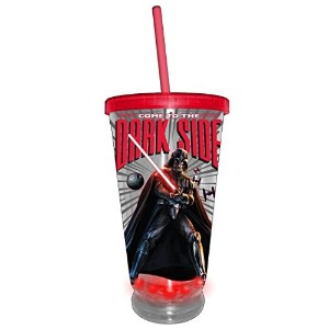 Star Wars Silver Buffalo SW38087L Star Wars Come To the Dark Side LED Plastic Cold Cup, 16 oz,...