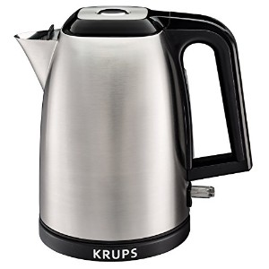 KRUPS BW3110 SAVOY Manual Electric Kettle with Auto Shut Off and Brushed Stainless Steel Housing, 1...
