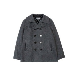 SCHOTT NYC SLIM FITTED PEA COAT (DU753: CHARCOAL GREY)ショット/ピーコート/グレー