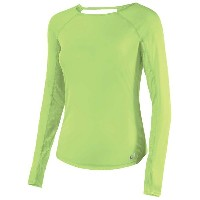 アシックス レディース トップス Tシャツ【ASICS Fuzex Seamless Long Sleeve T-Shirt】Pistachio