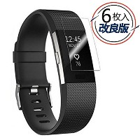 Timkyo Fitbit Charge 2 液晶保護フィルム 6枚付き