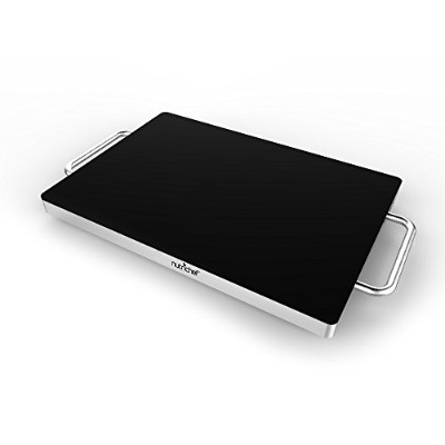 NutriChef Electric Warming Tray Food Warmer Hot Plate with Non-Stick, Heat-Resistant Glass (16.5''...
