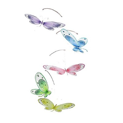 The Butterfly Grove Avery Dragonfly Nursery Mobile 3D Hanging Mesh Nylon Decor for Baby, Multicolored by The Butterfly Grove