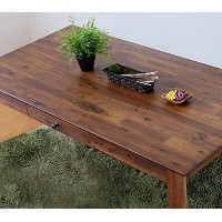 ISSEIKI DINING TABLE ダイニングテーブル ブラウン色 幅140 ダメージ加工 木製家具 ZEPH DINING TABLE 140 (MBR)