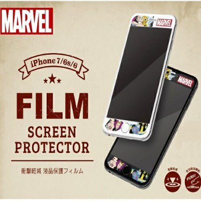 iphone7 iphone6s iphone6 液晶保護フィルム衝撃軽減【ロゴ/コミック】iphone 7 iphone 6s iphone 6 フィルム marvel iphone iphone...