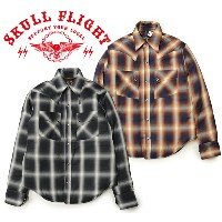p10【SKULL FLIGHT スカルフライト】シャツ/THINSULATE WESTERN SHIRTS★送料・代引き手数料無料!REAL DEAL