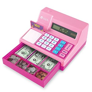 Learning Resources Pretend & Play Cash Register Assorted Pink Playset, Pink, Standard Packaging