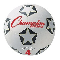 Rubber Sports Ball, For Soccer, No. 4, White/Black (並行輸入品)