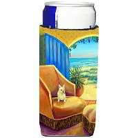 Caroline 's Treasures 7181-parentフレンチブルドッグat the beach cottage Ultra Beverage Insulators forスリム缶7181...